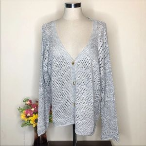 Lauren Conrad Knitted Cardigan Large
